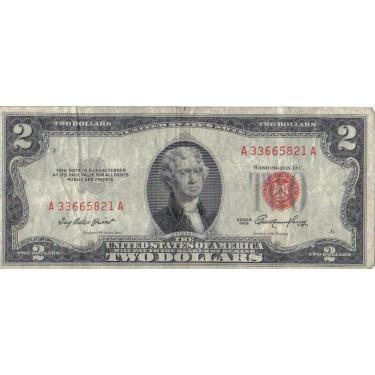 1953 J Stamp $2