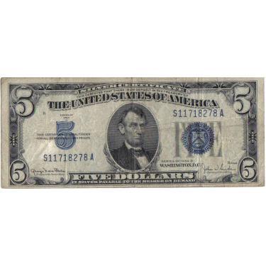 1934 $5 Silver