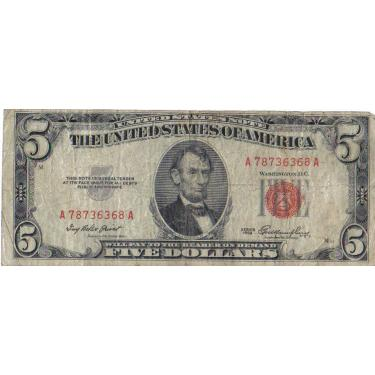 1953 $5 Red Seal