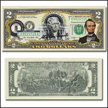Abe Lincoln $2