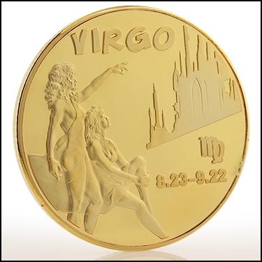 Virgo Sign Coin