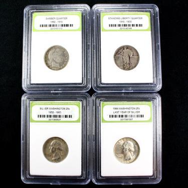 4 Silver 25c