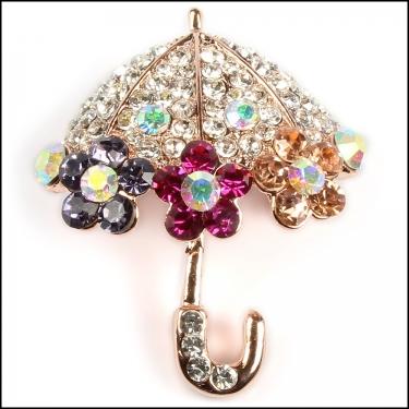 Umbrella Brooch