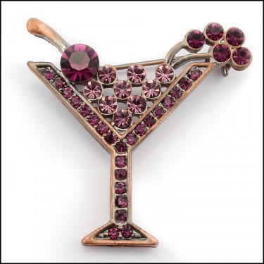 Cocktails Brooch