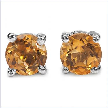 1CT Citrine Stud