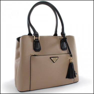 Taupe/Blk Satche