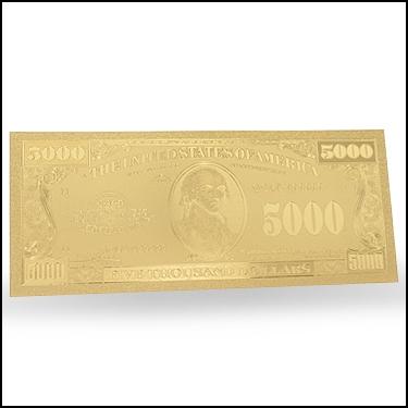 $5000 USNote