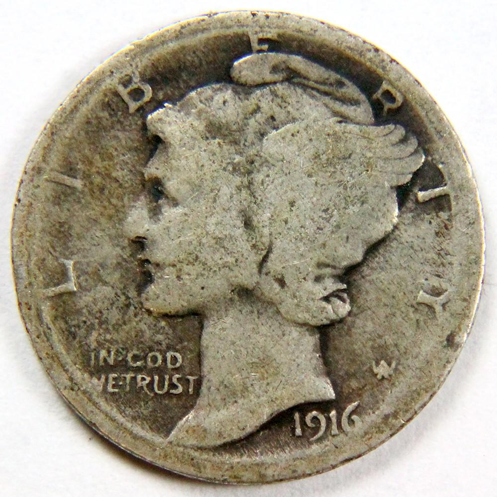 1916 Mercury 10¢