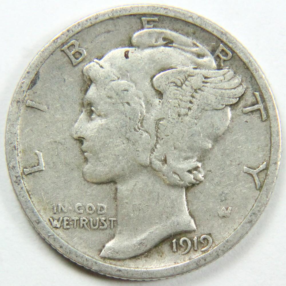 1919 Mercury 10c