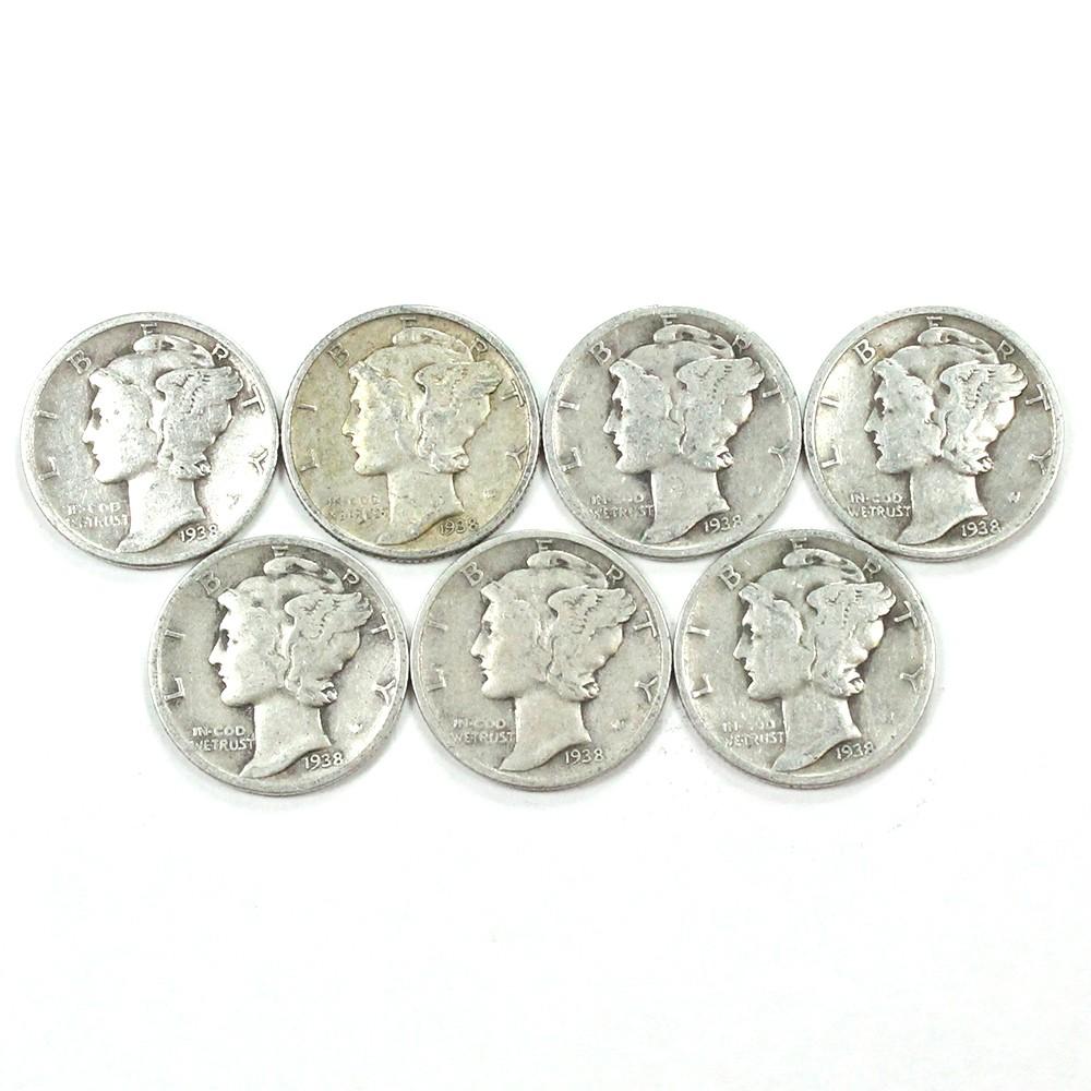 Lot of 1938 10c