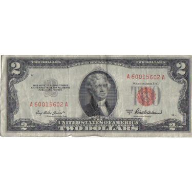 1963 $2 Red Seal
