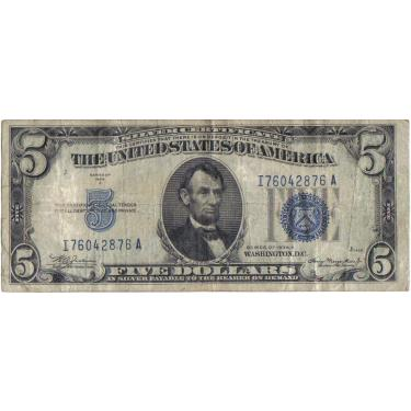 1934 $5 Cert