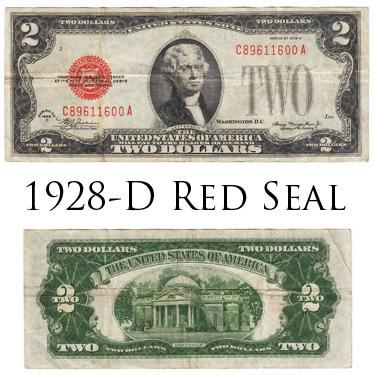 $2 Red Seal 1928