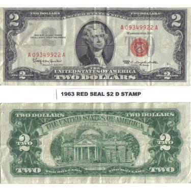 1963 D STAMP