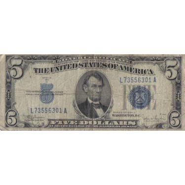 34C $5 SLVR CERT