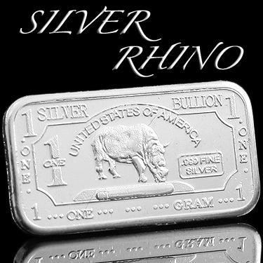 .999 SILVR RHINO