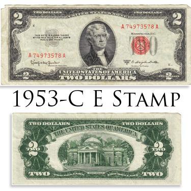 53C $2 E STAMP