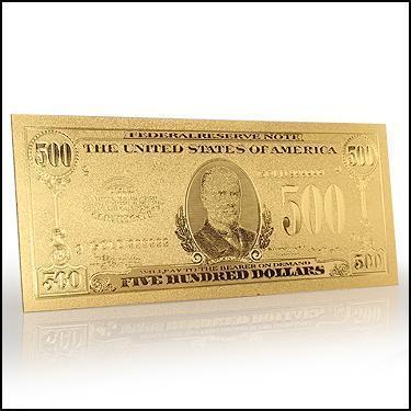 24K $500 US Leaf