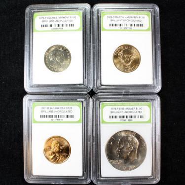 4 Coin BU $1.00