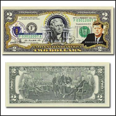 JFK 35thPresi $2