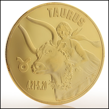 Taurus Sign Coin