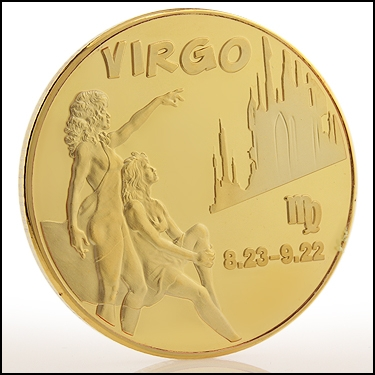 Virgo Sign Coin