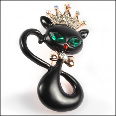 Crowned Blk Cat