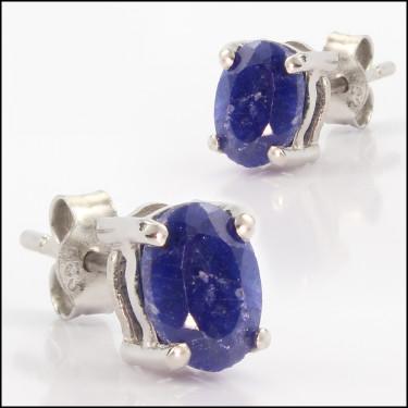 14K Sapphire Ovl