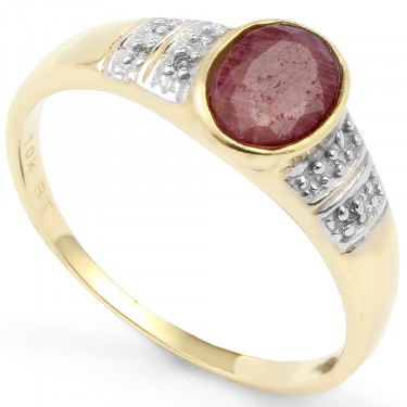 10K Gold Ruby DM
