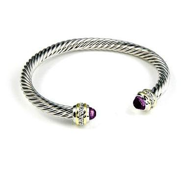Purple CZ Bangle