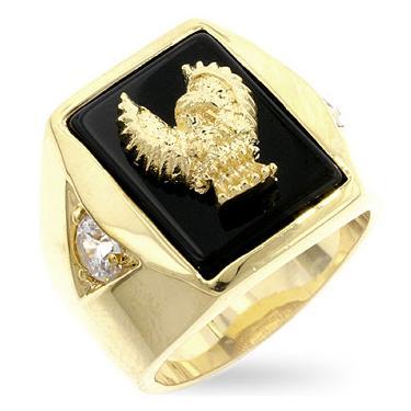 14K Onyx Eagle