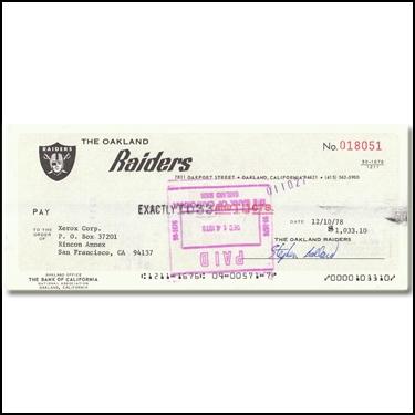 Raiders Checks