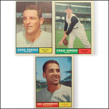 1961 Topps 3 Set