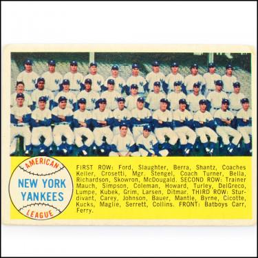 '58 Yankees Team