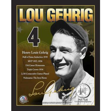 8x10 LouGehrig