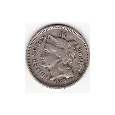 1866 Three Cents