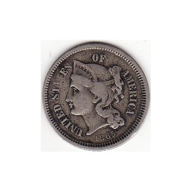 1865 Three Cents