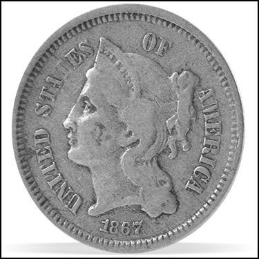1867 Three Cents